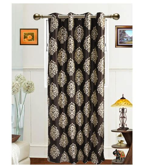 dekor world curtains dekor world single window eyelet curtain damask brown