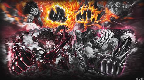 luffy  katakuri wallpaper credit  rob onepiecetc