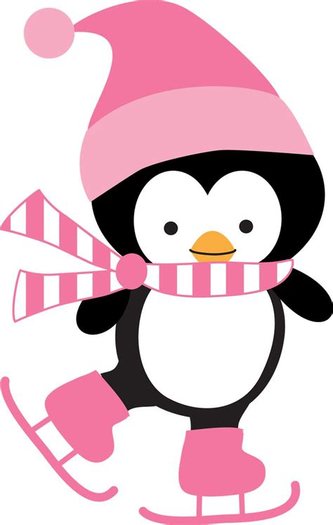 Penguin Ice Skating Clipart Clipground