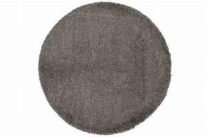 tapis rond 160 gris shaggy tapis design pas cher With tapis rond gris