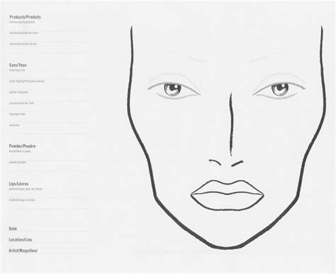 makeup template eumemaquio charts