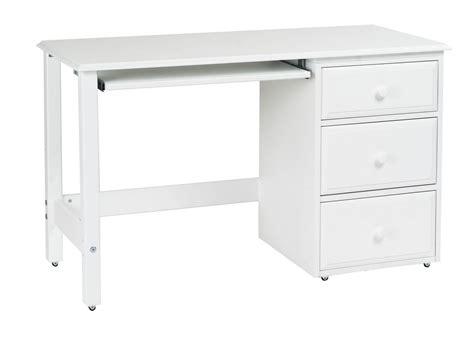 bedroom desk with drawers white polished solid wood computer desk for kids bedroom