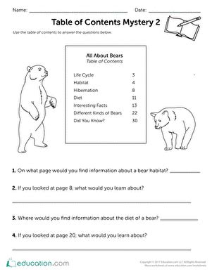 table of contents worksheets for 2nd grade table of contents worksheets for 2nd grade worksheets for