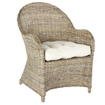 our kubu armchair is woven entirely by from split rattan pole with a