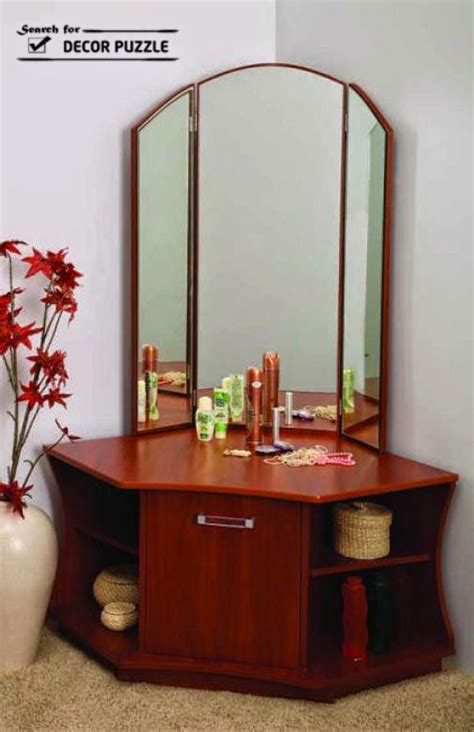 unique modern corner dressing table designs  small bedroom