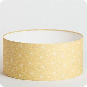 Abat Jour Moutarde : abat jour design pour lampe lampadaire ou suspension en tissu motif g om trique jaune p pite miel ~ Teatrodelosmanantiales.com Idées de Décoration