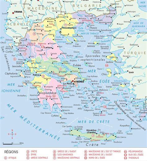 Carte Du Monde Grece Crete by Carte De La Gr 232 Ce Gr 232 Ce La Grece Cartes