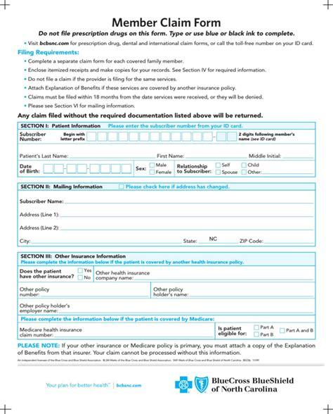 blue cross blue shield reimbursement form blue cross blue shield association member claim form for free page 2 formtemplate