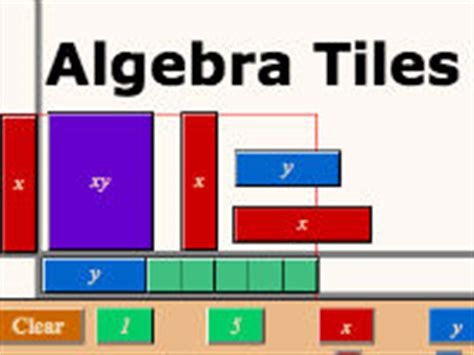 Algebra Tiles Manipulatives by Hooda Math