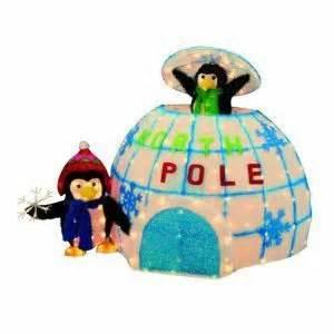 animated lighted christmas outdoor igloo penguins