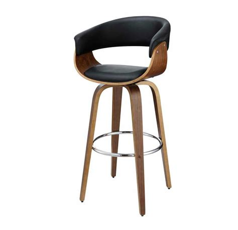 black accent modern padded black bar stool co 205 bar stools