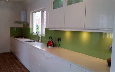 white kitchen with green glass splashback lime green glass splashback an excellent choice against a 2105