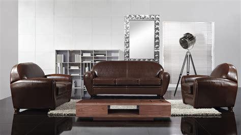 salon canapé cuir fauteuil salon marron