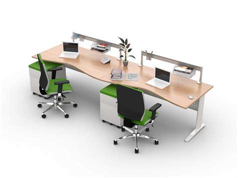 bureau pour 2 bureau bench vague 2 personnes en ligne hellekin