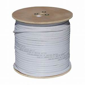 Spt 1000 Ft  18-2 Rg59 Closed Circuit Tv Coaxial Cable - White-90s-1000w