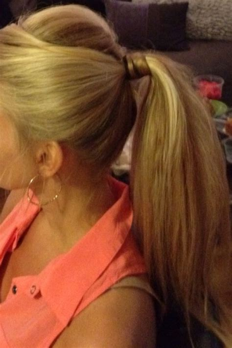 dressy ponytail wedding guest hair blonde pony teased pony hair nails  hairstyles