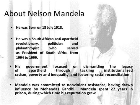 Nelson Mandela Essay  Cfcpoland Leadership Style Nelson Mandela