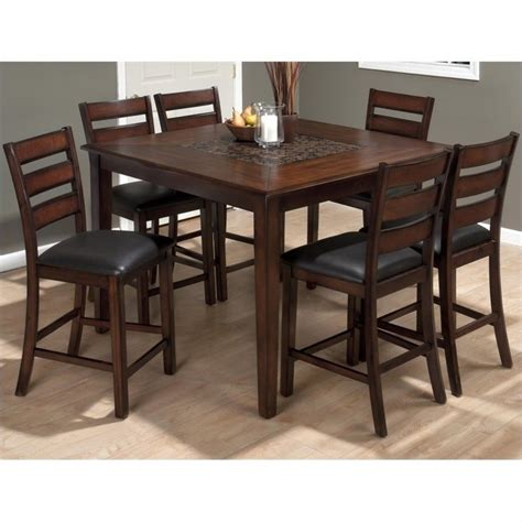 jofran 697 series 7 counter height dining set with