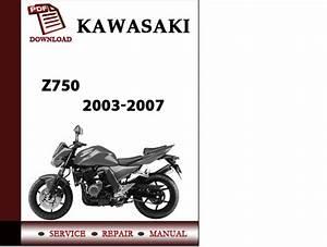 Kawasaki Z750 2003 2004 2005 2006 2007 Workshop Service