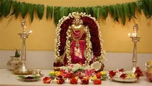 Pooja Room Decoration Ideas for Varalakshmi - Pooja Room