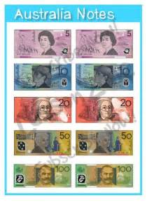 Australian Money Notes Printable