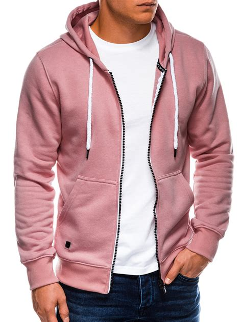 Vyriškas džemperis B977 - šviesiai rožinis - Rubaiplius.lt
