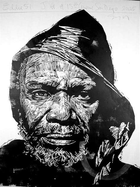 Eddie, 51, one of Neil Shigley's large block prints