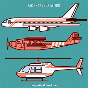 Air transportation collection Vector | Free Download