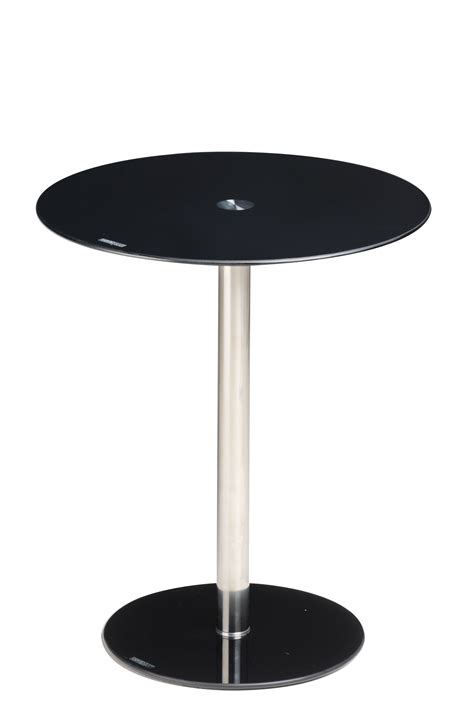 black glass end table black round glass display l bed coffee side end table