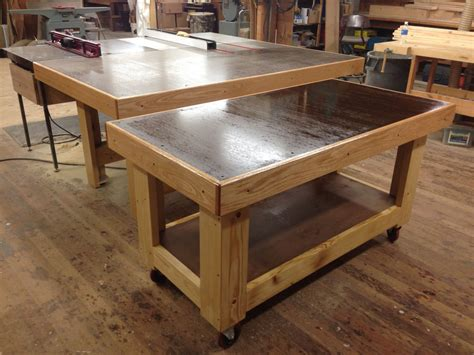 shop table on wheels rolling torsion box assembly table mini me by
