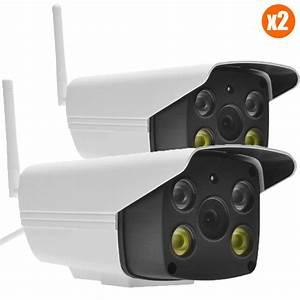 Camera Surveillance Exterieur Wifi : pack de deux cam ras de video surveillance ext rieur sans ~ Melissatoandfro.com Idées de Décoration