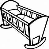 Crib Clipart Cradle Clip Drawing Cribs Cot Coloring Bedding Wooden Clipartof Nursery Getdrawings Template Sketch Preschool Sheets Train Tags sketch template