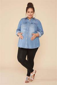 Bump It Up Maternity Black Cotton Elastane Leggings With Comfortplus Size 16 To 32