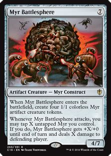 Mtg Myr Deck Legacy by Purphoros God Of The Forge Edh Deck Mono Mtg