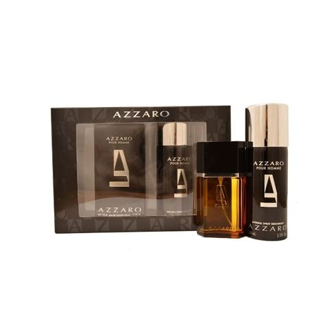 azzaro pour homme eau de toilette 50ml deodornat spray 150ml gift set mens from base uk