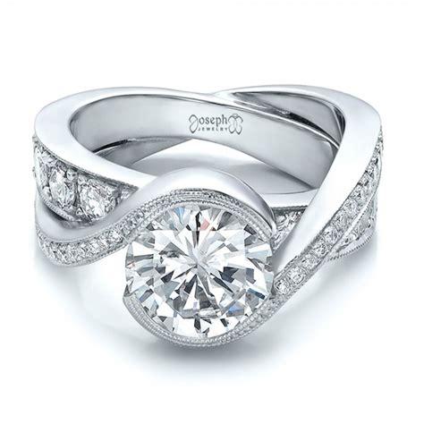 custom wedding ring custom interlocking diamond engagement ring 100615 seattle bellevue joseph jewelry