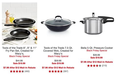 friday cookware macy macys rebate select mail after