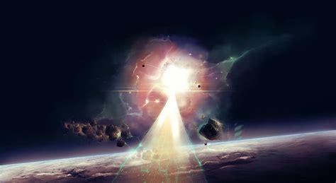 wallpaper sunlight explosion universe beam light