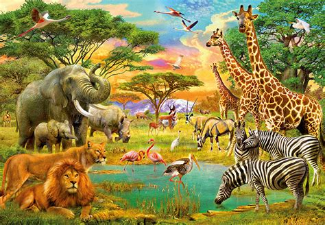 366x254cm photo wallpaper safari animals designer wall mural nature decor ebay