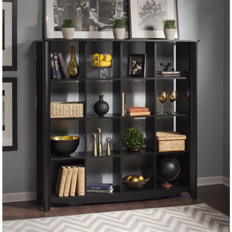 Cube Bookcase aero classic black 16 cube bookcase room divider from
