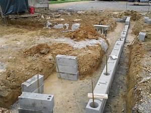 Fondation Mur Parpaing : d but des fondations la chouanetrie ~ Premium-room.com Idées de Décoration