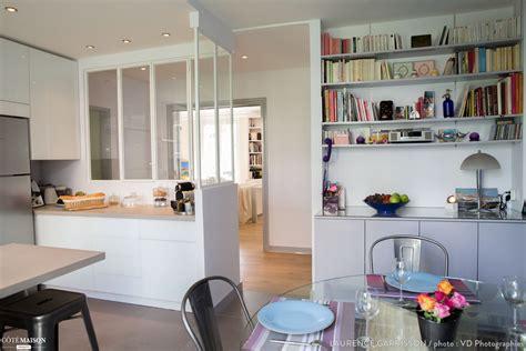 cote maison cuisine epure et design pour une cuisine verrière à neuilly laurence garrisson côté maison cuisine