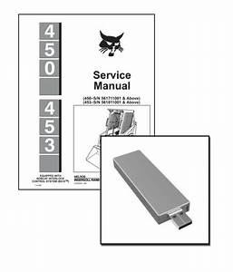 Bobcat 450 453 Skid Steer Service Manual Shop Repair Book Part   6724259 For Sale Online