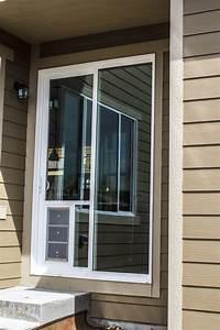 exterior door with built in doggie door feather river With exterior doors with dog door built in