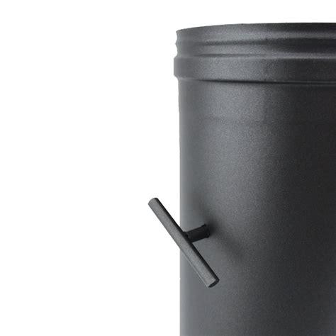 d駻ouleur cuisine inox régulateur de tirage noir et anthracite ø 180