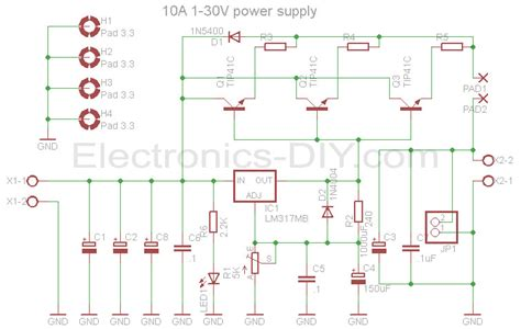 variable power supply  lmcircuit diagram