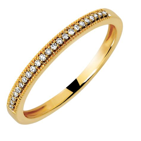 wedding band  diamonds  ct yellow gold