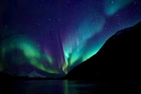 полярное сияние gif красивые картинки