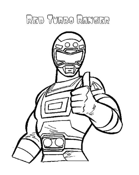 Turbo Kleurplaat by Power Rangers Turbo Coloring Page For