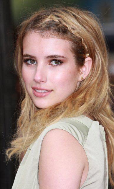 emma roberts   Medium length hair styles, Plaits ...